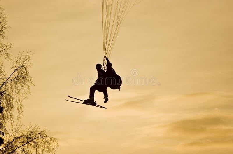 Ski Paraplane stock afbeelding