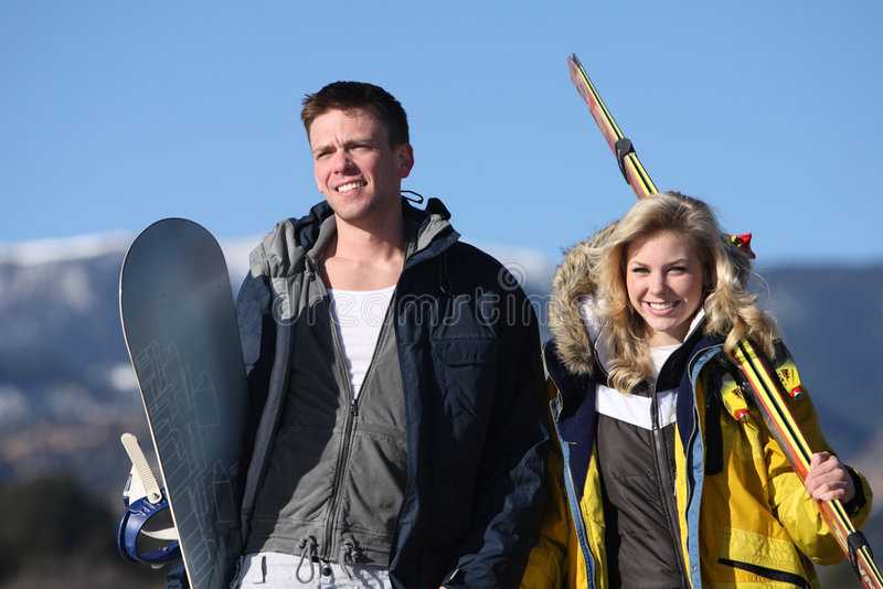 ski park zdjęcie royalty free