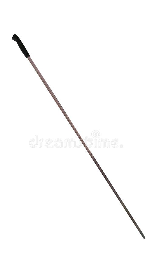 Ski poles isolated. On white background stock photo