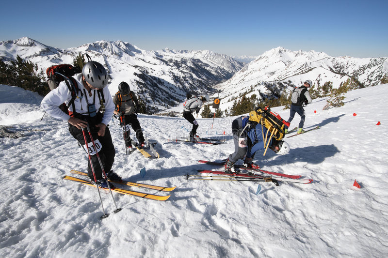 Download Ski race check point stock image. Image of snow, change - 2359295