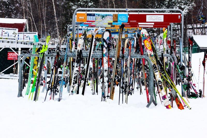 Ski Rack à La Montagne De Dingue Image stock éditorial - Image du ...