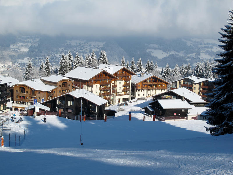 Download Ski resort stock photo. Image of panorama, picturesque - 18640372