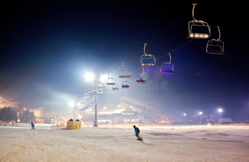Ski resort stock images