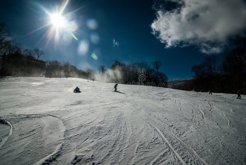 At the ski resort royalty free stock photos