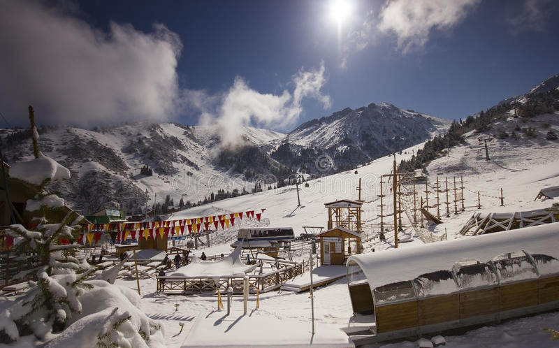Ski resort Chimbulak stock image