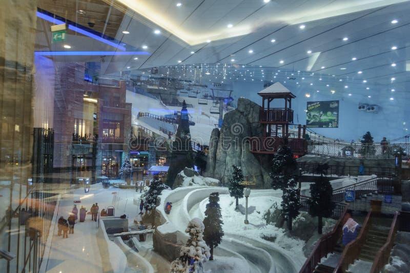 The ski resort Ski Dubai – Mall of the Emirates ,United Arab Emirates. stock photo