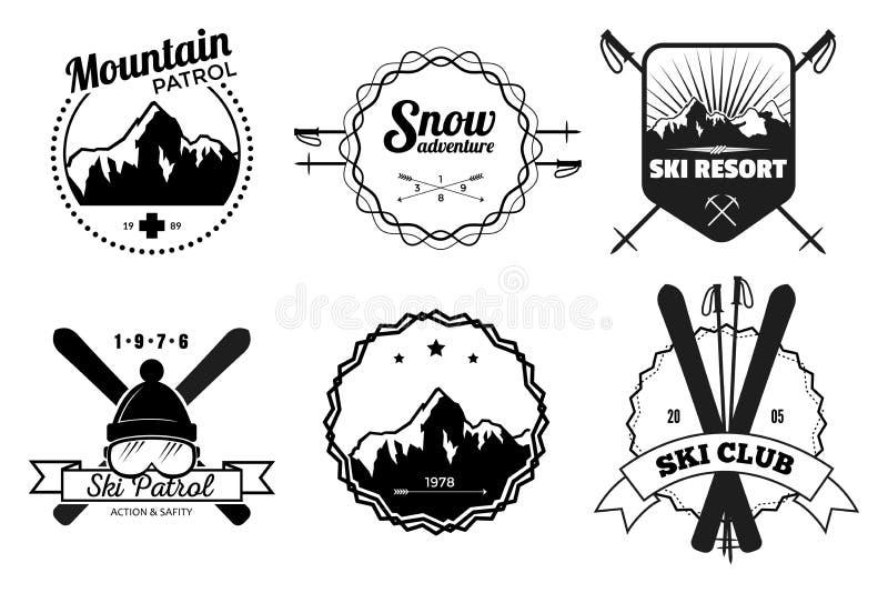 Ski Resort Emblems ilustração royalty free
