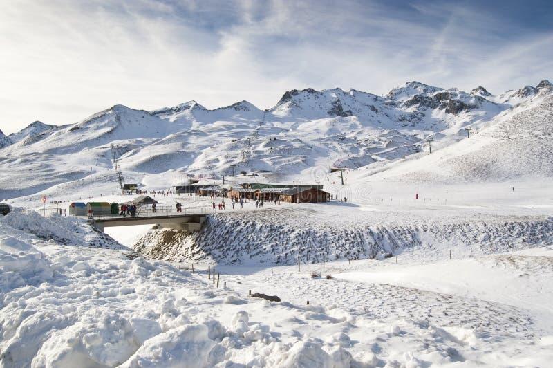 Ski resort of Formigal (Huesca, Spain). General view of a ski resort (Formigal, Huesca, Spain royalty free stock photography