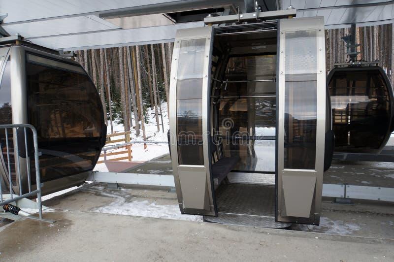 Download Ski resort gondola stock photo. Image of slope, door - 28289560