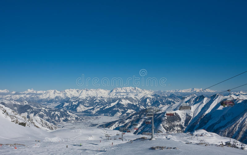 Ski Resort Of Kaprun, Austria Stock Image