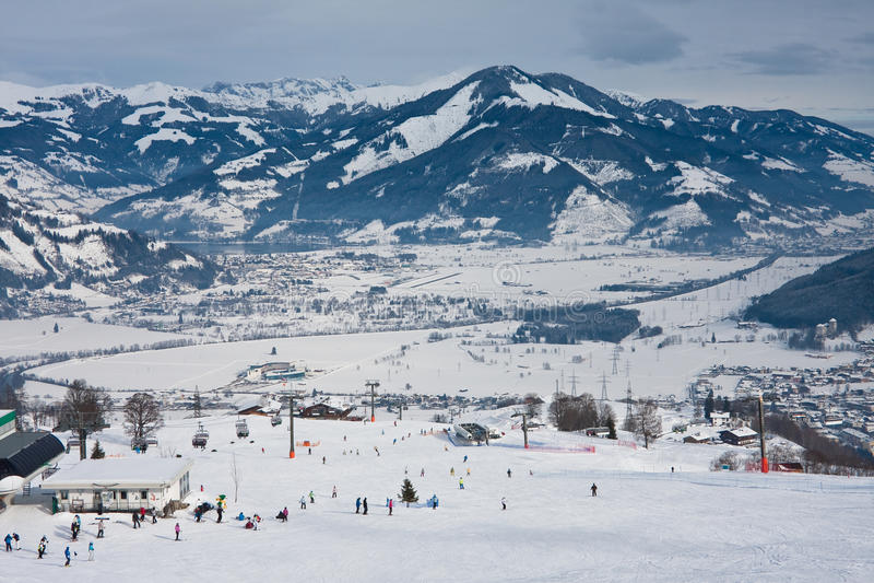 Ski Resort Kaprun - Maiskogel Royalty Free Stock Photography