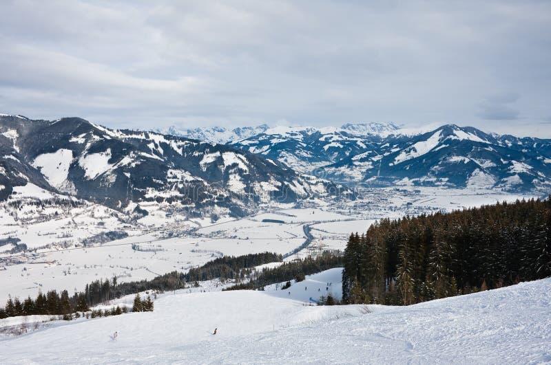 Ski Resort Kaprun - Maiskogel Stock Photo