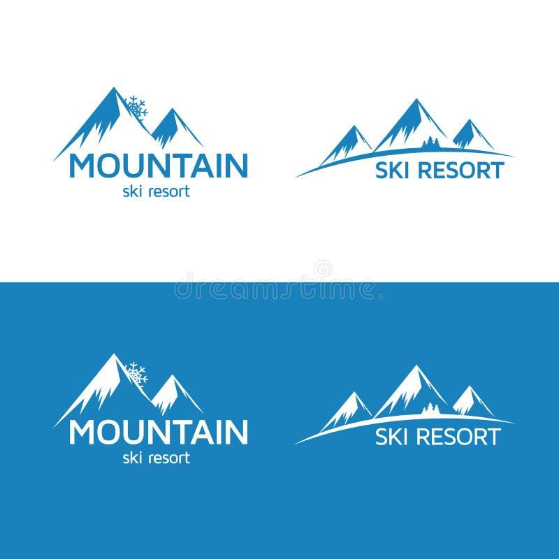Ski resort logo stock illustration