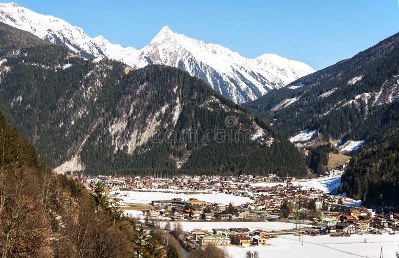 Ski resort Mayrhofen royalty free stock image