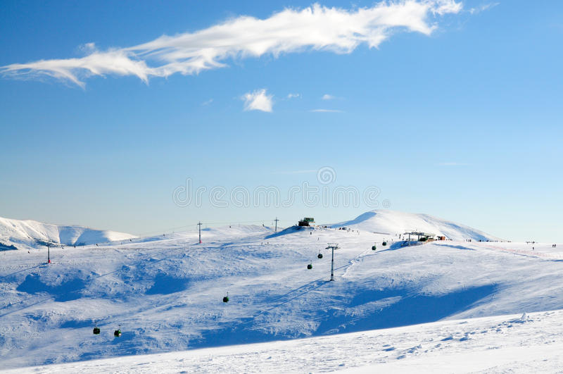 Ski resort. In the mountains Parang stock photos