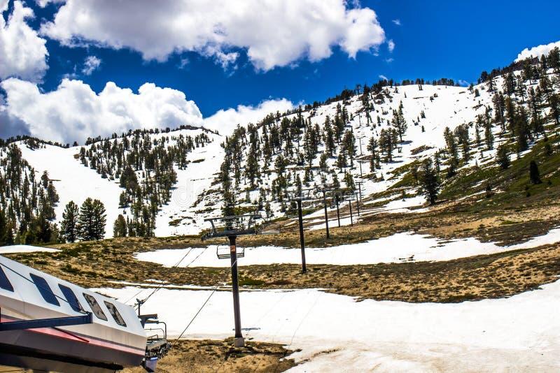 Ski Resort In Springtime vuoto fotografia stock