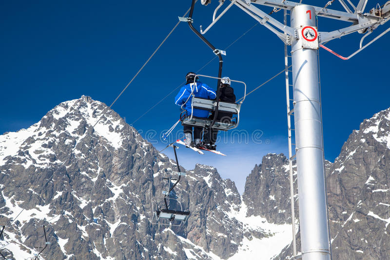 Ski resort Tatranska Lomnica, Slovakia stock photos