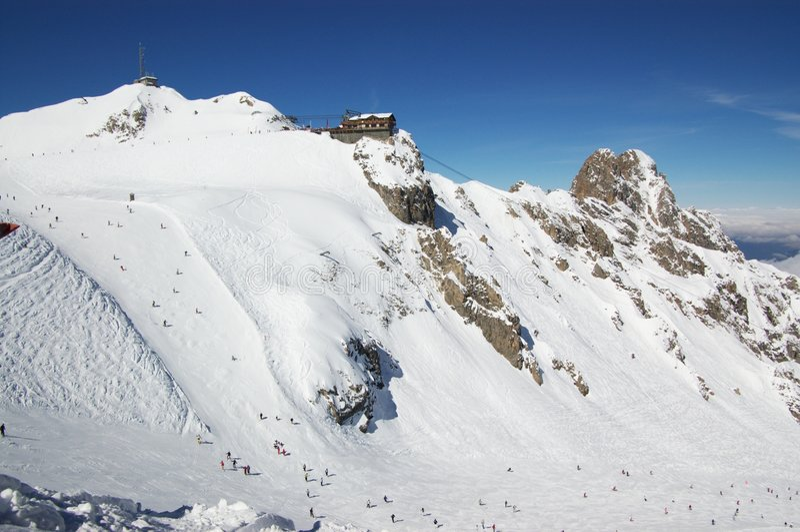 Ski resort winter view royalty free stock images