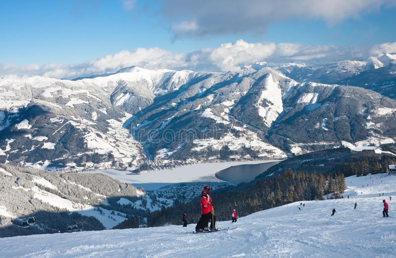 Ski resort Zell am See stock image