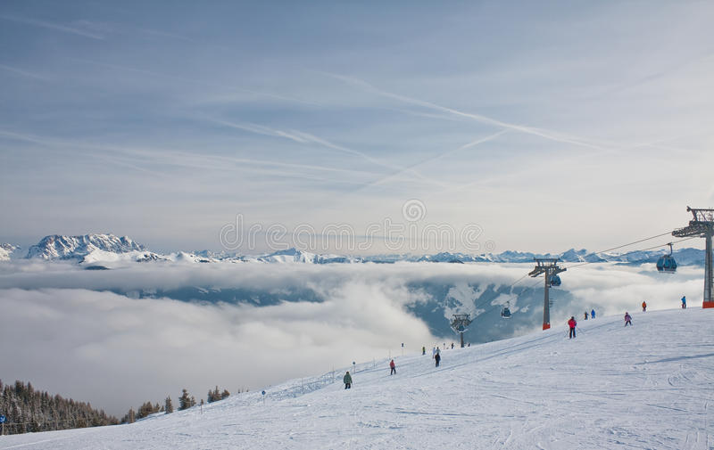 Download Ski resort Zell am See stock image. Image of snow, slope - 26583769