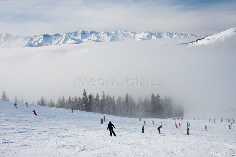Ski Resort Zell Am See Stock Photos