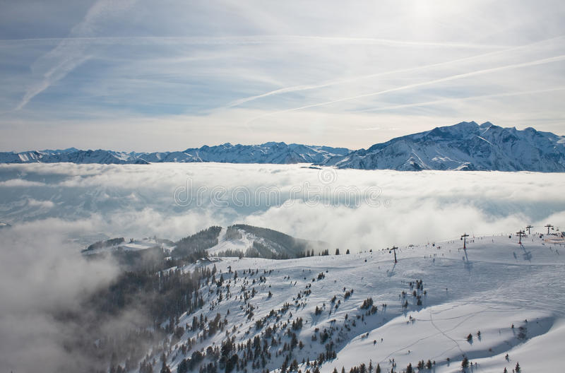 Download Ski resort Zell am See stock photo. Image of europe, blue - 26661600