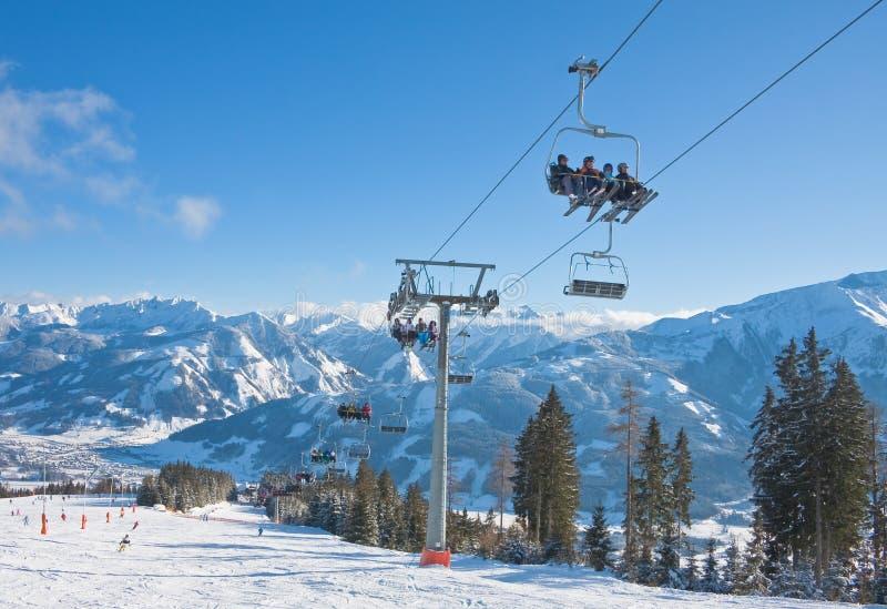 Ski resort Zell am See. Austria stock photo