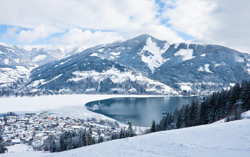 Ski Resort Zell Am See Royalty Free Stock Photo