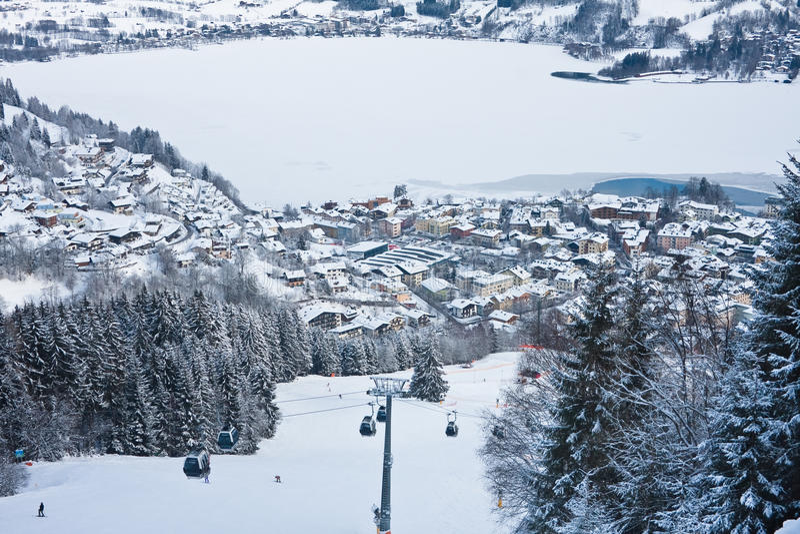 Ski Resort Zell Am See Royalty Free Stock Photos