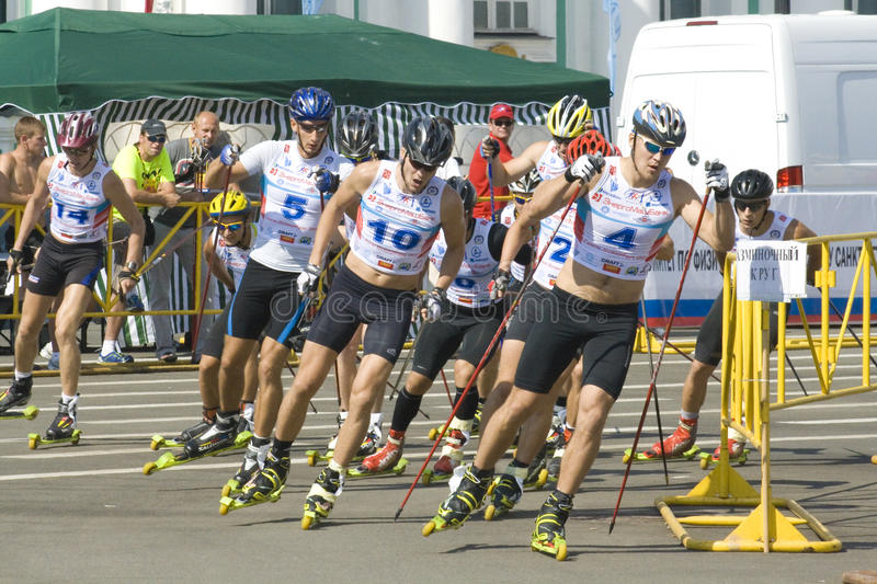 Download Ski Rollers Event Editorial Stock Image - Image: 20165899