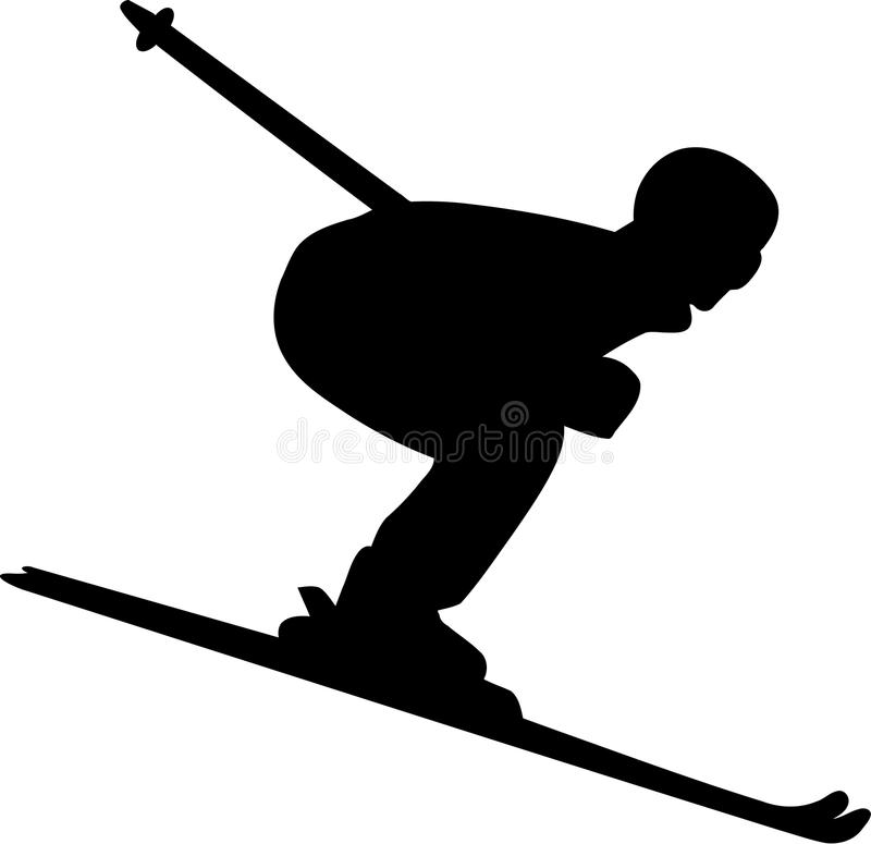 Ski Run Men ilustração do vetor