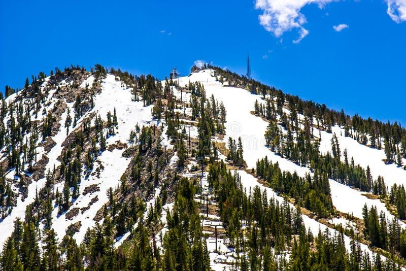 Ski Runs At Mountain Resort íngreme fotografia de stock royalty free