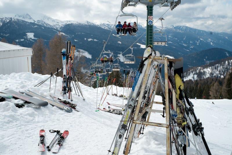 Ski. stock photo