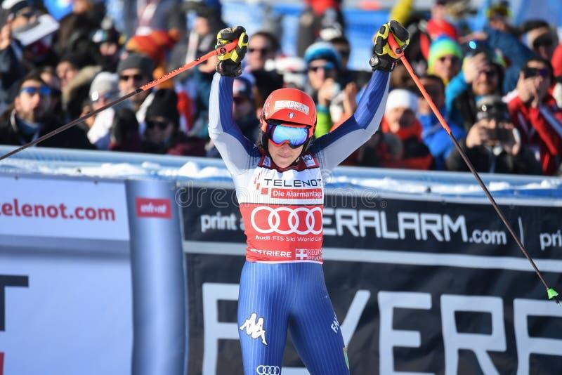 Ski SKI World Cup 2020 - Giant Slalom Women stock photos