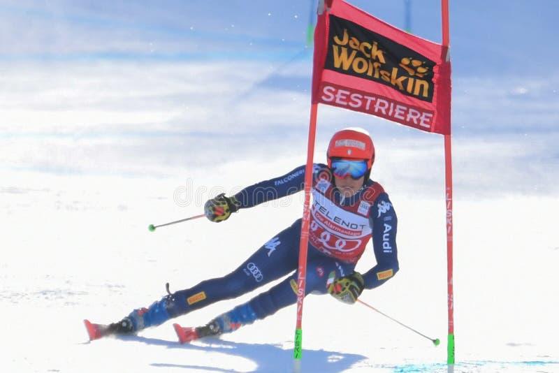 Ski SKI World Cup 2020 - Giant Slalom Women stock photo