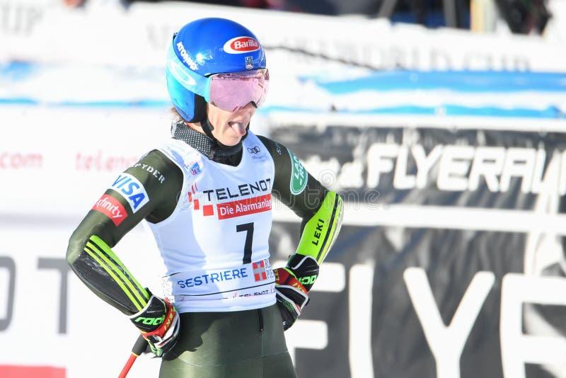 Ski SKI World Cup 2020 - Giant Slalom Women stock image