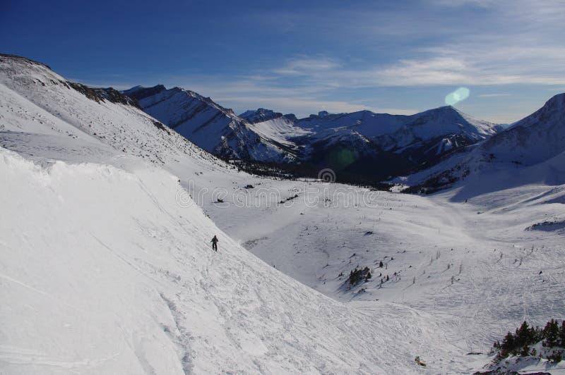 Ski Slope dans les Rocheuses canadiennes photo libre de droits