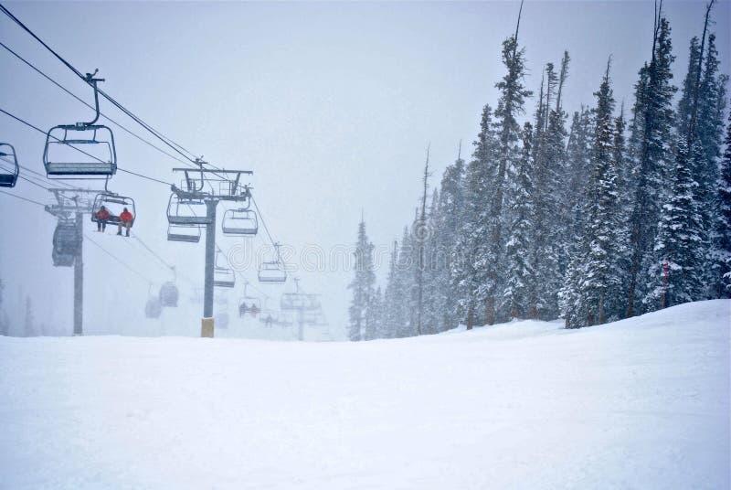 Ski Slope. Ski run at Keystone, Colorado stock photography