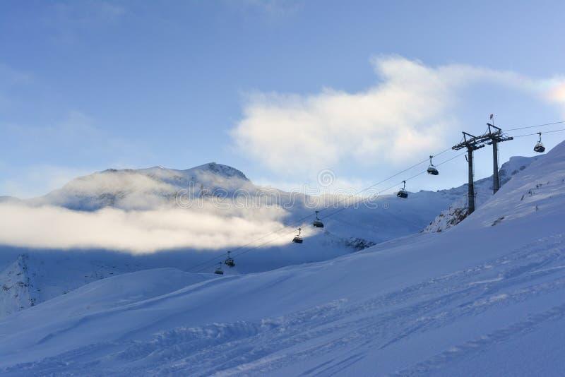 Ski Slopes stock foto's