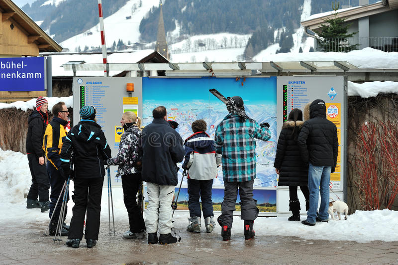 Download Ski Slopes Checking Tablet For Skiers Editorial Image - Image: 23307070