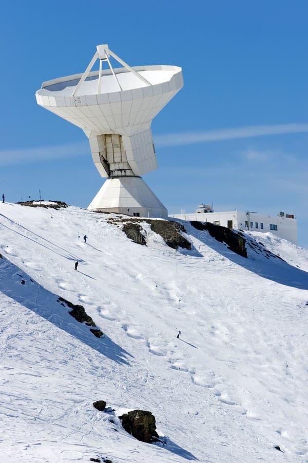 Ski slopes and observatory of resort in Spain