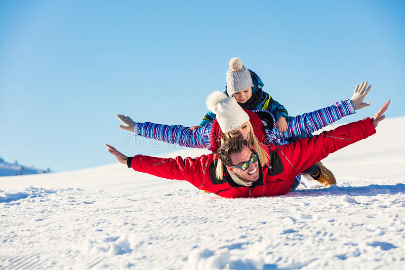Download Ski, Snow Sun And Fun - Happy Family On Ski Holiday Stock Photo - Image of adult, girl: 86720862