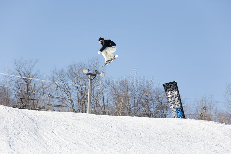 Download Ski snowboad jump stock photo. Image of resort, alps, snowboard - 600432