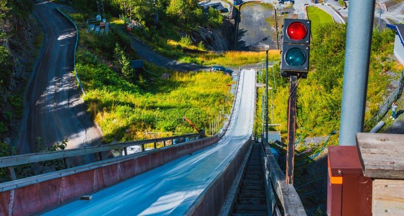 Ski-sprong in Vikersund, Noorwegen, Scandinavië royalty-vrije stock afbeelding