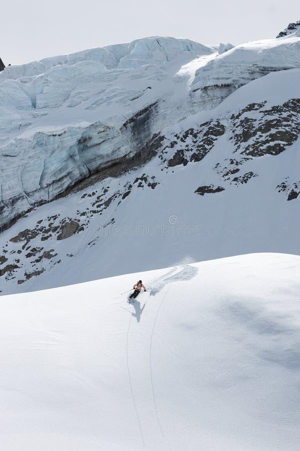 Ski sur glace image libre de droits