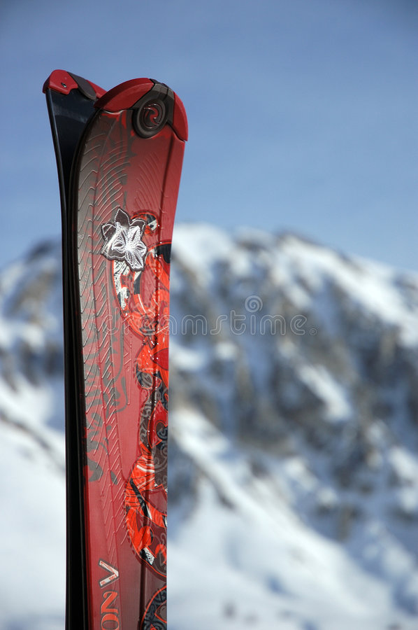 Download Ski tips stock image. Image of mountains, extreme, piste - 5849839
