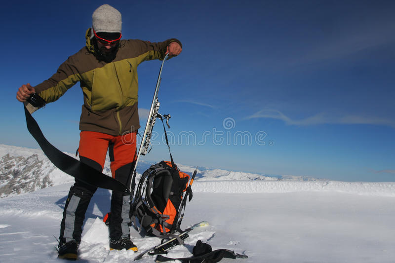 Download Ski touring stock image. Image of backpack, skier, ascent - 14636255