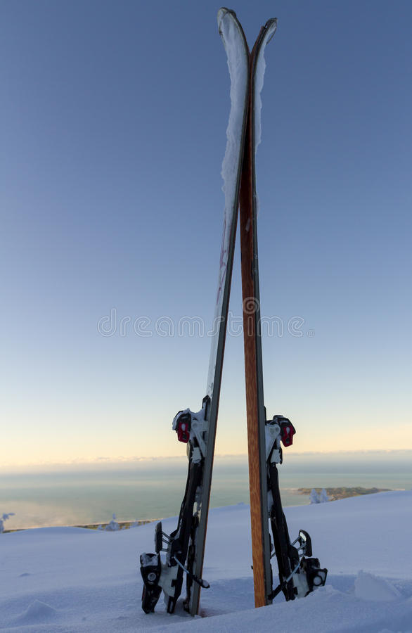 Ski Touring fotografía de archivo
