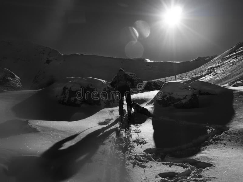 Ski Touring royalty-vrije stock afbeeldingen