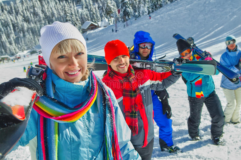 Download Ski touring stock photo. Image of resort, cold, country - 33981964
